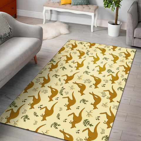 Australia Area Rug Koala With Kangaroo Pattern