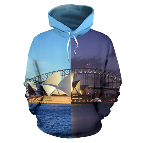 Hoodie Australia Opera Sydney Day and Night - Front for Men and Women