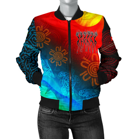 1stAustralia Naidoc Women's Bomber Jacket  - Proud To Be