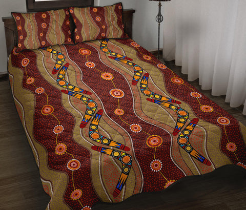 1stAustralia Quilt Bed Set  - Aboriginal Quilt Bed Set Boomerang Patterns