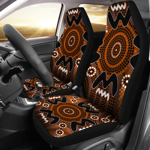 Australia Aboriginal Pattern Car Seat Covers Unisersal Fit