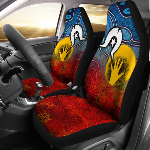 1stAustralia Aboriginal Car Seat Covers - Aboriginal and Torres Strait Islanders Flag