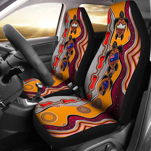 1stAustralia Car Seat Covers - Aboriginal Patterns Seat Covers Turtle