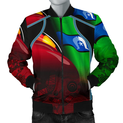 1stAustralia Aboriginal Men's Bomber Jacket, Naidoc  Week