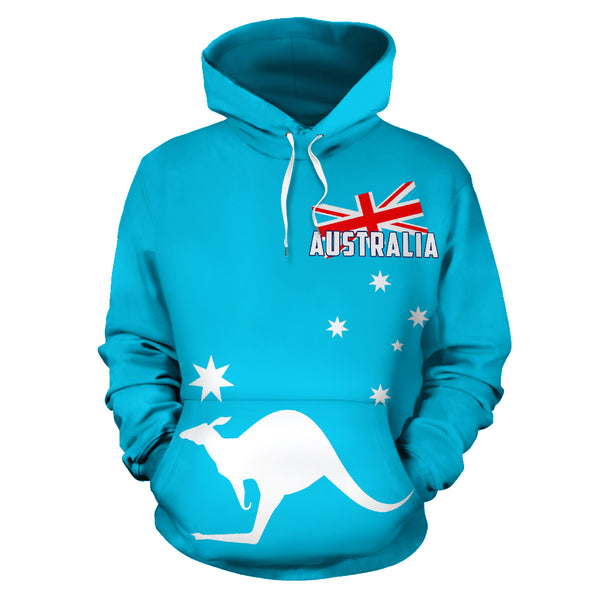 Australia Kangaroo Hoodie (Zip-Up) - Blue Version