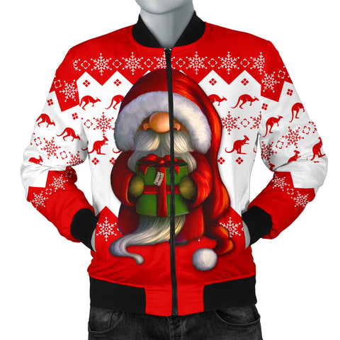Australia Christmas Bomber Jacket (Men) - Christmas Gnome