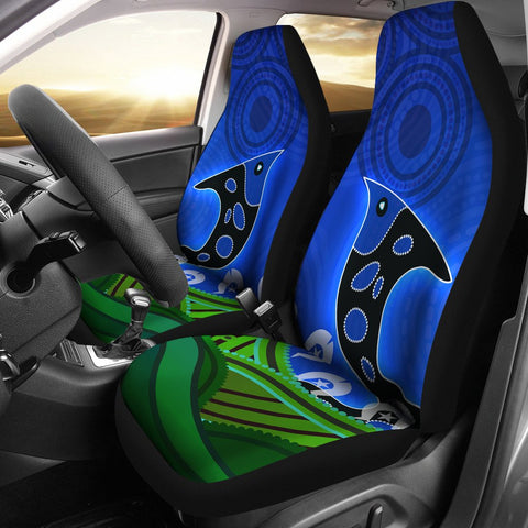 1stAustralia Car Seat Cover - Torres Strait Dot Patterns Fish