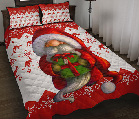 Australia Christmas Quilt Bed Set - Christmas Gnome