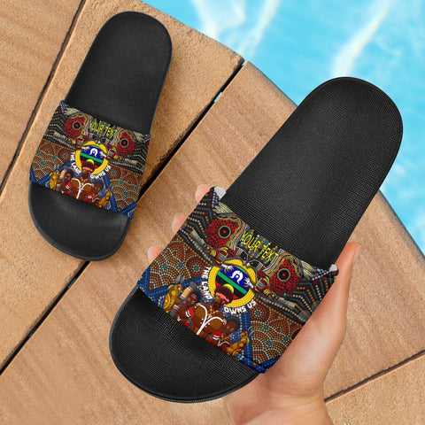 (Custom Text) 1stAustralia The Land Owns Us Slide Sandals - BN21