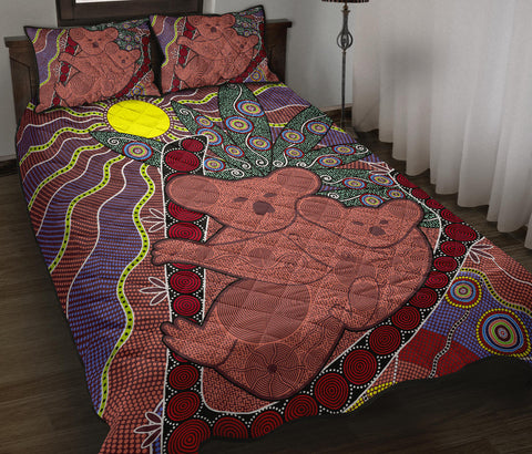 Australia Quilt Bed Set - Aboriginal Koala