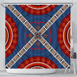 Australia Aboriginal Pattern Shower Curtain