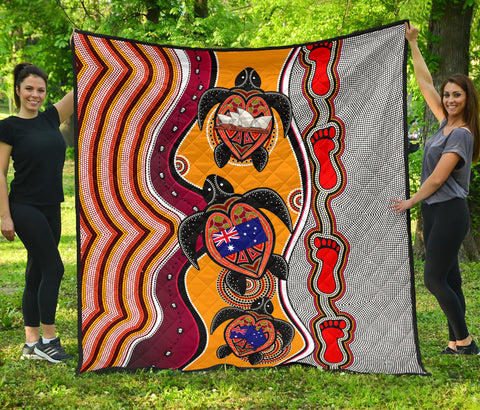 1stAustralia Premium Quilt - Aboriginal Patterns Quilt Turtle