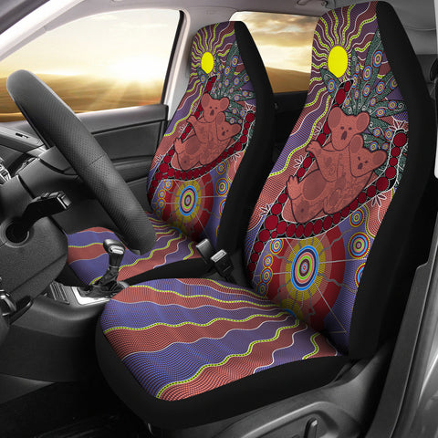 1stAustralia Car Seat Covers - Koala Seat Covers Aboriginal Patterns
