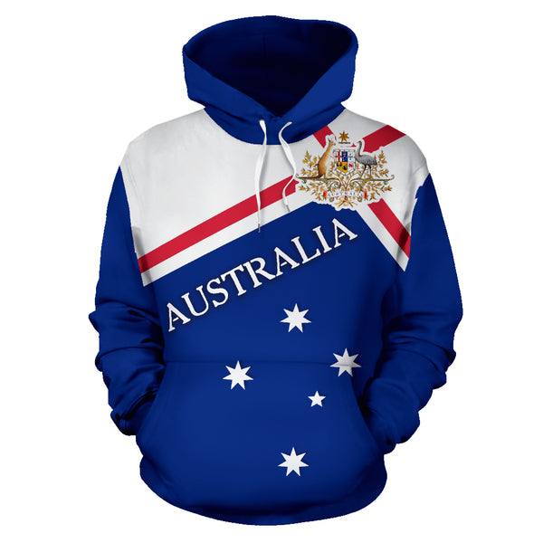 Australia Forever Hoodie with Blue color - Front - For Men and Women