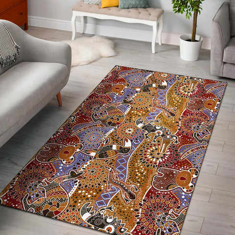 Australia Aboriginal Area Rug - Australia Animals