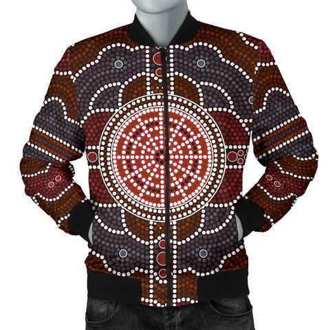 Image of Australia Mens Bomber Jacket Aboriginal 03