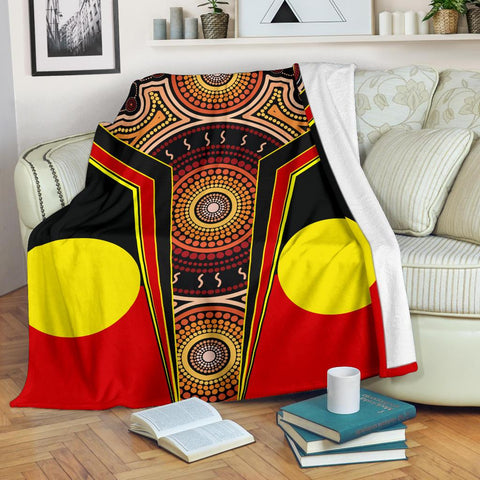1stAustralia Premium Blanket - Aboriginal With Dot Painting Art - BN17