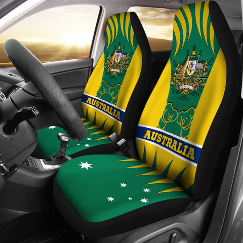1stAustralia Car Seat Covers - Australian Coat Of Arms Seat Covers Koala