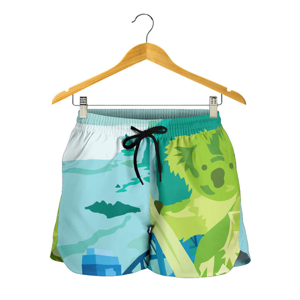 Australia All Over Print Womens Shorts Koala