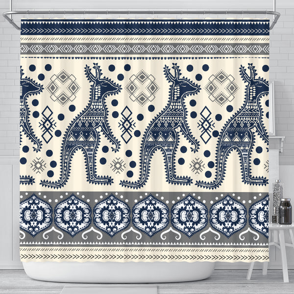Australia Kangaroo Aboriginal Shower Curtain
