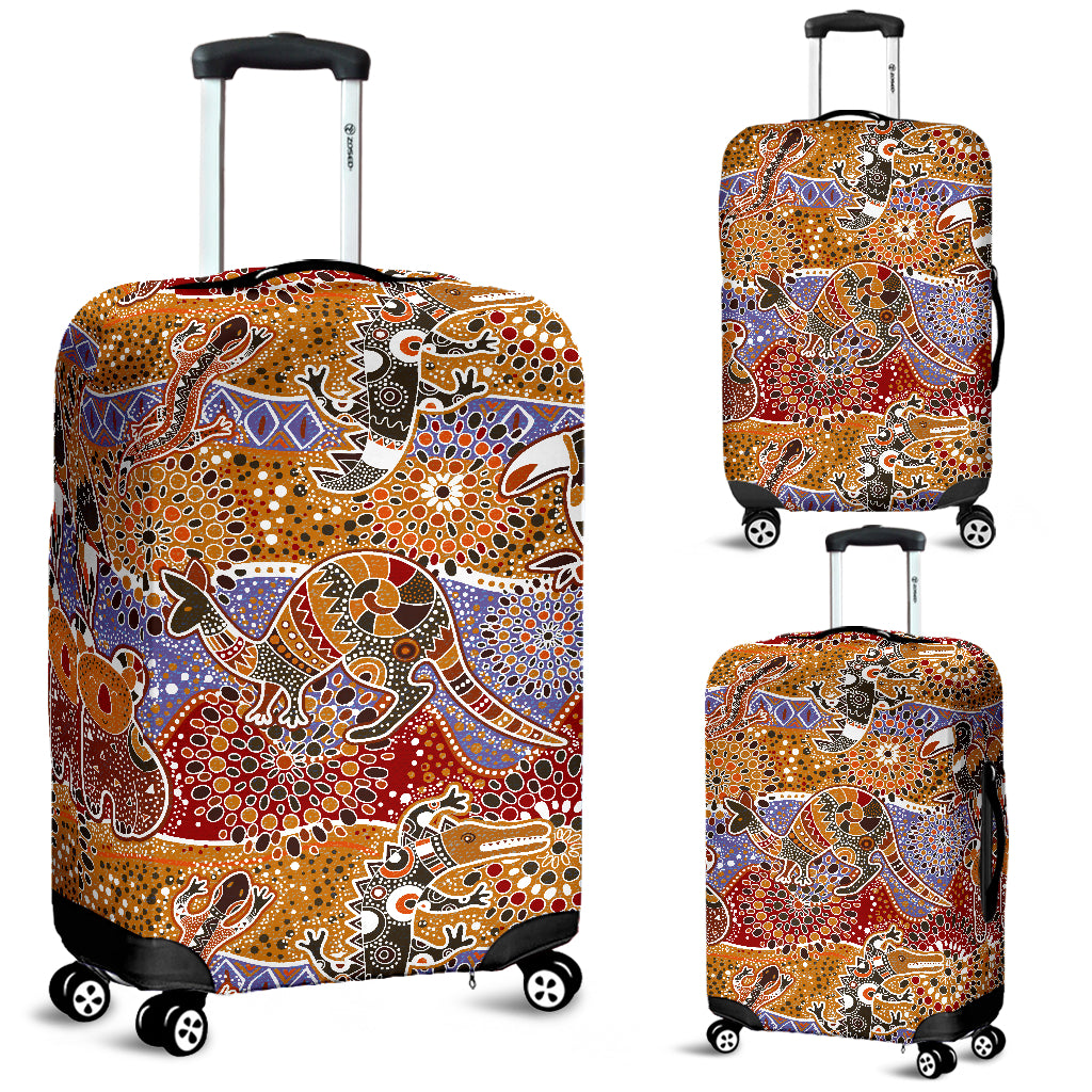 Australia Bohemian Luggage Cover Animals