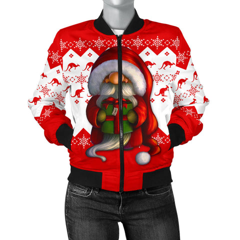 Australia Christmas Bomber Jacket (Women) - Christmas Gnome