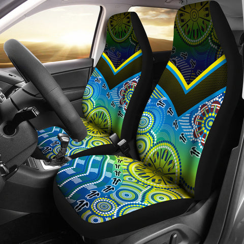 1stAustralia Aboriginal Car Seat Covers - Dot Painting Indigenous Circle Patterns