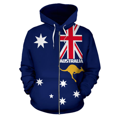 Australia Kangaroo Hoodie (Zip-Up) Version 3