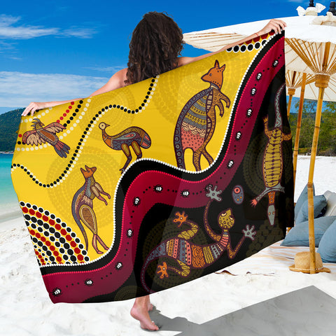 1stAustralia Aboriginal Sarong - Indigenous Animals Life Art