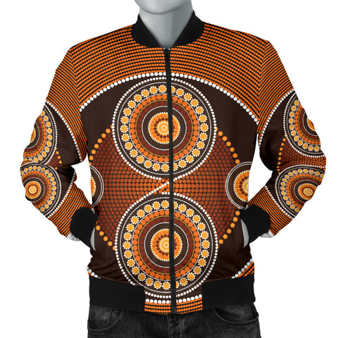 Image of Australia Mens Bomber Jacket Aboriginal 08