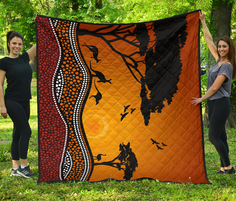 Image of Australia Premium Quilt Aboriginal Sunset