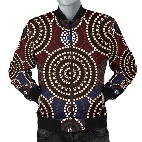Image of Australia Mens Bomber Jacket Aboriginal 07