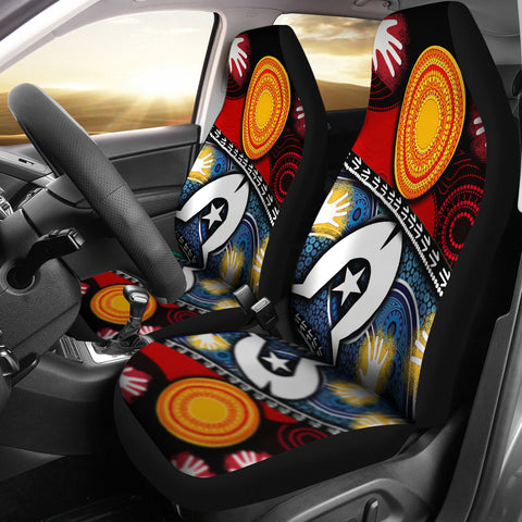 1stAustralia Car Seat Covers - Australian NAIDOC Aboriginal and Torres Strait Island Flags - BN19