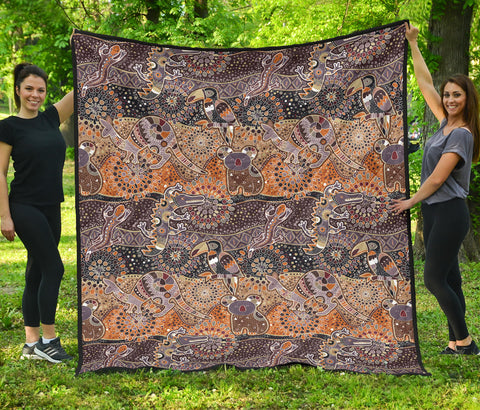 Image of Australia Premium Quilt Aboriginal Animals