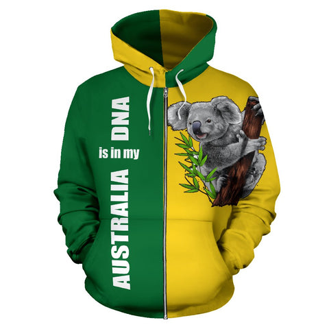 Australia Koala Hoodie (Zip-Up) is in My DNA Hoodie