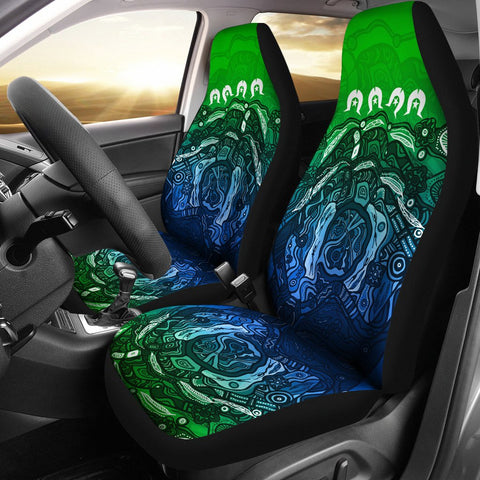 1stAustralia Torres Strait Islands Car Seat Covers - Blue Ocean