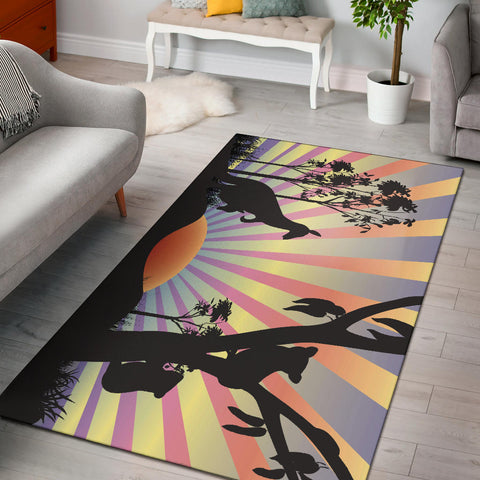 Australia Kangaroo Area Rug With Koala In The Sunset