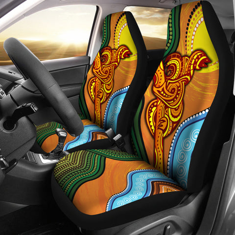 1stAustralia Car Seat Covers - Australian Aboriginal Dot Painting Koala - BN19