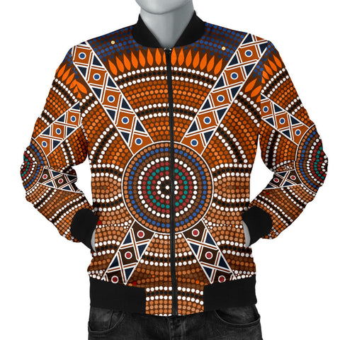 Image of Australia Mens Bomber Jacket Aboriginal 01
