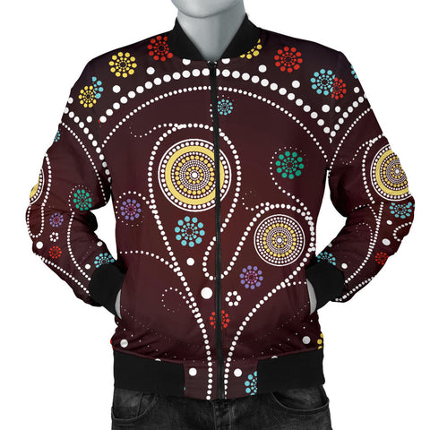 Australia Mens Bomber Jacket Aboriginal Tree
