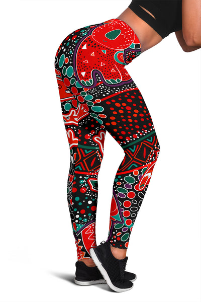 1stAustralia Leggings - Aboriginal Animal & Dot Acrylic Paint - BN17