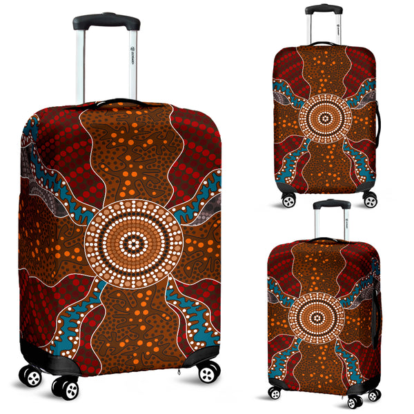 Australia Aboriginal Luggage Cover 06