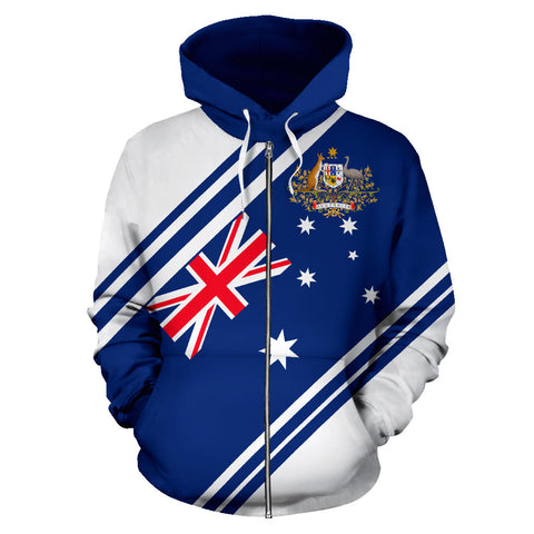 Australia Zip-Up Hoodie Line Version Th9