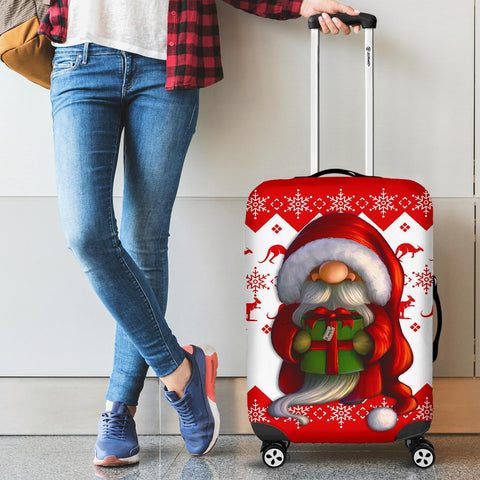 Australia Christmas Luggage Cover - Christmas Gnome