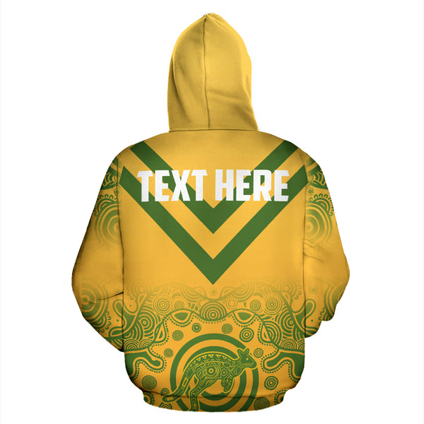 1stAustralia Abboriginal Hoodie, Australian Coat Of Arms Map Patterns - Th0