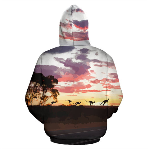 Image of Hoodie Australia Koala And Kangaroo Sign™ by 1staustralia for Men and Women