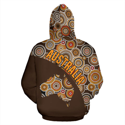 Image of Australia Zip-Up Hoodie Australia Pattern Wave Map TH95