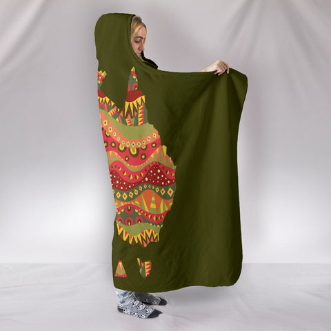 Australia Aboriginal Map Hooded Blanket 1 TH1