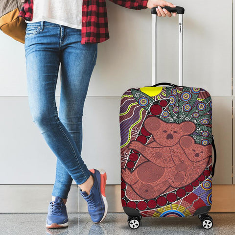 Australia Luggage Covers - Aboriginal Koala