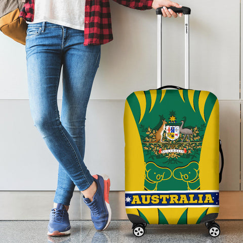 1stAustralia Luggage Covers - Australian Coat Of Arms Suitcase Koala